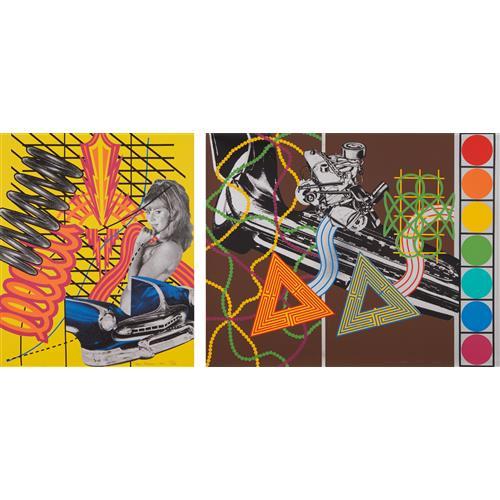 PETER PHILLIPS - Custom Print I, from 11 Pop Artists, Volume I; and Custom Print II, from 11 Pop Artists, Volume II, 1965-66