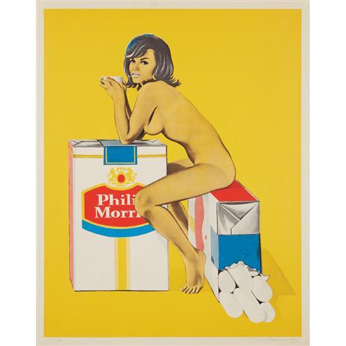 MEL RAMOS - Tobacco Rhoda, from 11 Pop Artists, Volume II, 1965