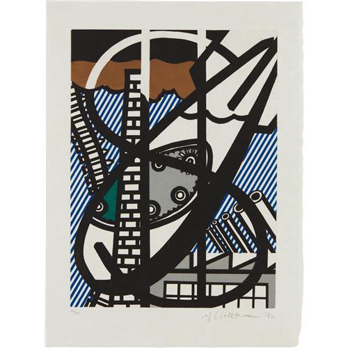 ROY LICHTENSTEIN - Une Fenêtre ouverte sur Chicago (A Window Open on Chicago), from La nouvelle chute de l'Amérique (The New Fall of America), 1992
