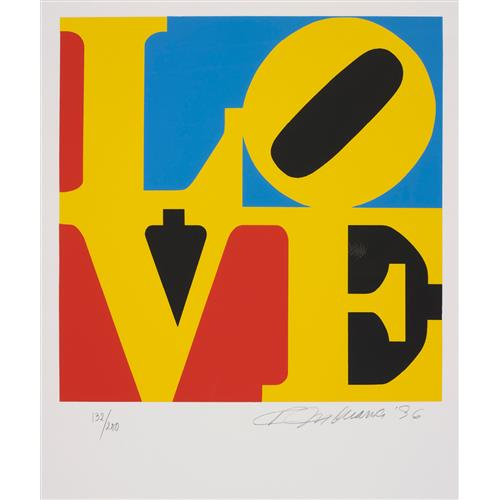 ROBERT INDIANA - Book of Love: one plate, 1996