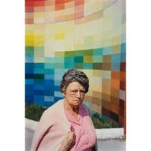 WILLIAM EGGLESTON - Untitled (Gingham Woman, Albers wall), 1965-1974