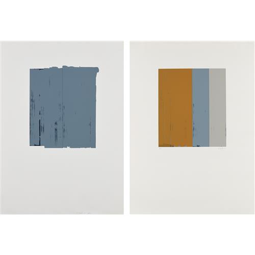 BRICE MARDEN - Untitled; and Untitled, 1973 and 1975