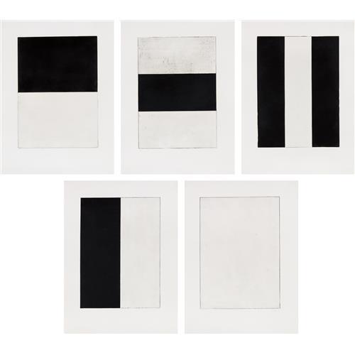 BRICE MARDEN - Five Plates, 1973