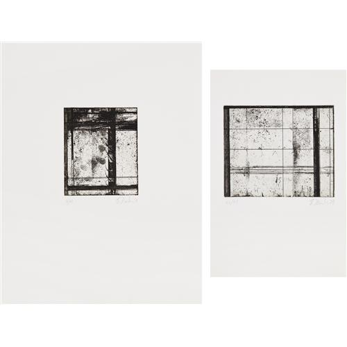 BRICE MARDEN - The Skowhegan Print; and Untitled, 1979