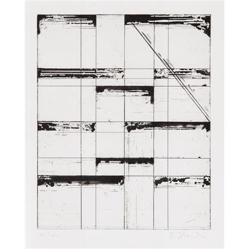 BRICE MARDEN - Etching for Parkett, 1986