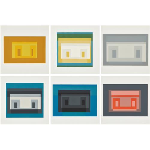 JOSEF ALBERS - Variants I, II, III, IV, VII and X, from Ten Variants, 1966