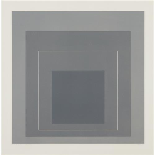 JOSEF ALBERS - WLS II, from White Line Squares (Series I), 1966