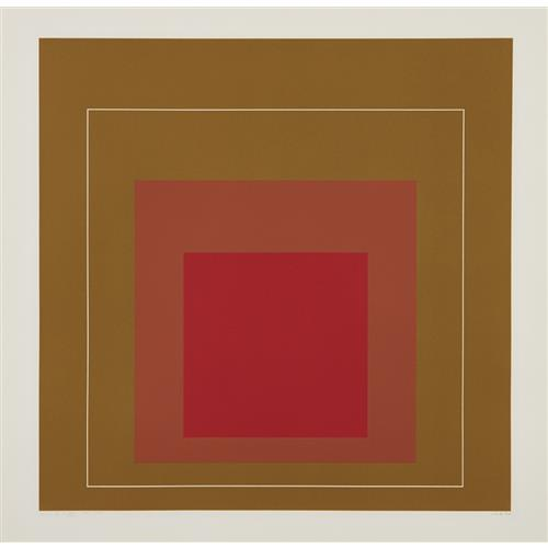 JOSEF ALBERS - WLS IV, from White Line Squares (Series I), 1966