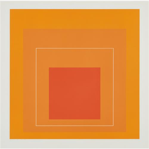 JOSEF ALBERS - WLS VI, from White Line Squares (Series I), 1966