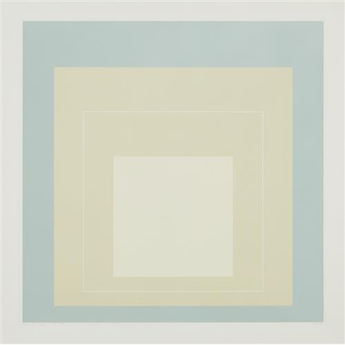 JOSEF ALBERS - WLS VII, from White Line Squares (Series I), 1966