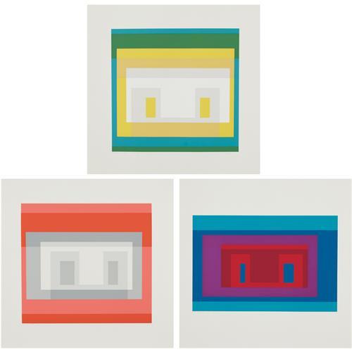 JOSEF ALBERS - Variants II, VI, and IX, from Ten Variants, 1967