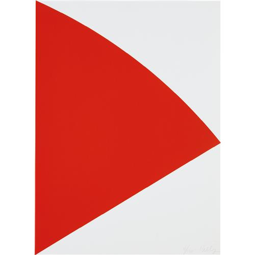 ELLSWORTH KELLY - Red Curve (for Joel), 1993