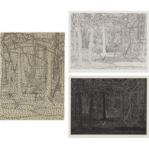 ALAN TURNER - Black Landscape/White Landscape; Black Landscape/White Landscape; and Numerical Landscape, 1978; and 1979