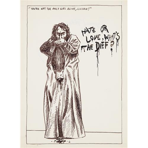 RAYMOND PETTIBON - Untitled (You're not the only girl…), 1984