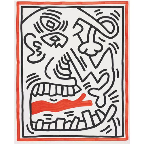 KEITH HARING - Untitled, from Three Lithographs, 1985