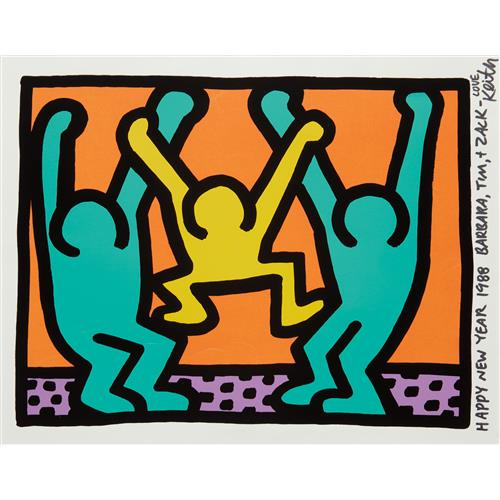 KEITH HARING - Pop Shop I: one plate, with accompanying unique envelope, 1987