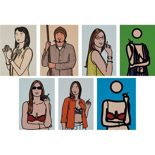 JULIAN OPIE - Twenty Six Portraits, 2006