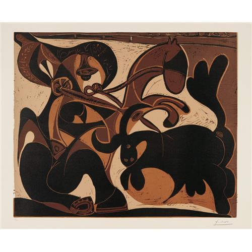 PABLO PICASSO - Pique (Bullfight), 1959