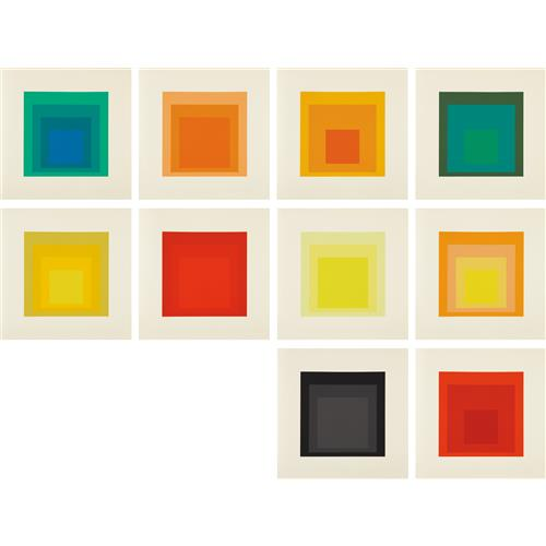 JOSEF ALBERS - Homage to the Square: Edition Keller Ia-Ik, 1970