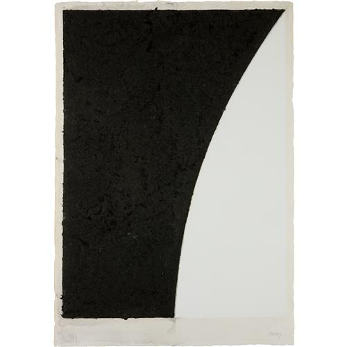 ELLSWORTH KELLY - Colored Paper Image VI (White Curve with Black II), from Colored Paper Images, 1976