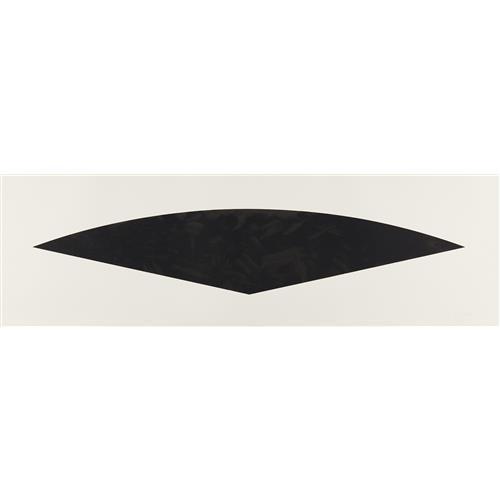 ELLSWORTH KELLY - Dark Gray Curve, from Fans series, 1988