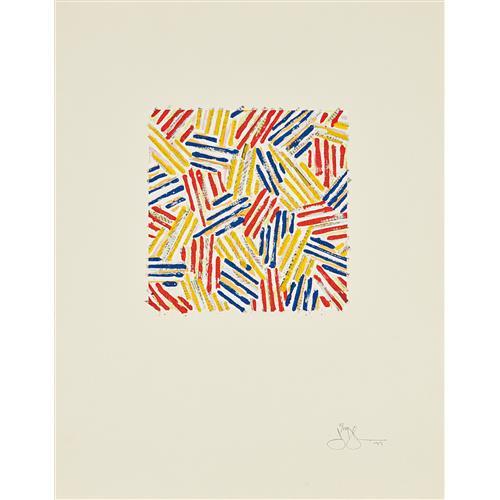 JASPER JOHNS - Untitled, 1977