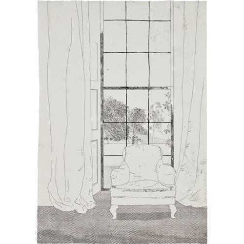 DAVID HOCKNEY - Home, from Illustrations for Six Fairy Tales from the Brothers Grimm, 1969
