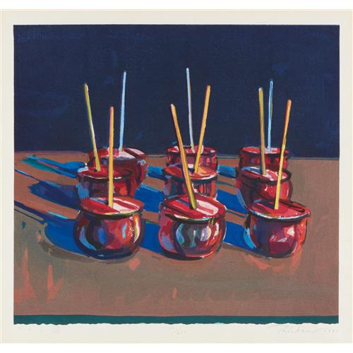 WAYNE THIEBAUD - Candy Apples, 1987