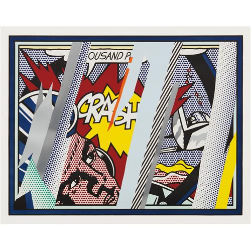 ROY LICHTENSTEIN - Reflections on Crash, from Reflections Series, 1990