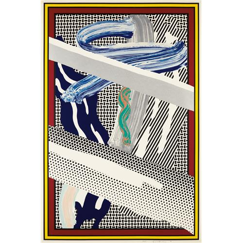 ROY LICHTENSTEIN - Reflections on Expressionist Painting, from The Carnegie Hall 100th Anniversary Portfolio, 1990