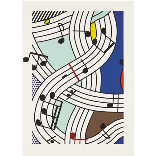 ROY LICHTENSTEIN - Composition I, 1996