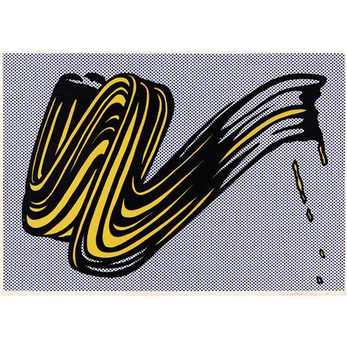 ROY LICHTENSTEIN - Brushstroke, 1965