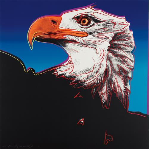 ANDY WARHOL - Bald Eagle, from Endangered Species, 1983