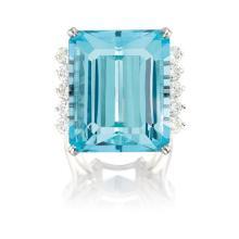 CARTIER - An Aquamarine and Diamond Ring, Cartier