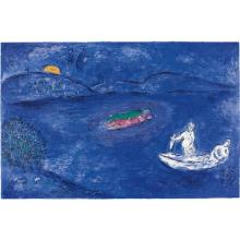 MARC CHAGALL - L'Echo, pl. 33 from Daphnis and Chloé, 1961