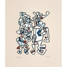 JEAN DUBUFFET - Parade nuptiale (Courtship), 1973