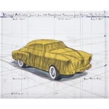 CHRISTO AND JEANNE-CLAUDE - Wrapped Automobile (Project for 1950 Studebaker Champion Series 9G Coupe), 2015