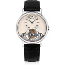 BREGUET - A fine white gold tourbillon wristwatch, Circa 2003