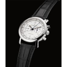 VACHERON CONSTANTIN - A fine white gold chronograph wristwatch with telemeter and tachymetre scale, Circa 2007