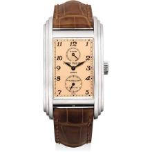 PATEK PHILIPPE - An extremely fine and rare platinum rectangular 10 day tourbillon chronometer wristwatch with 10 day power reserve, original certificate and fitted presentation box, 2006