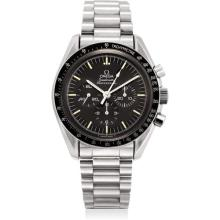 OMEGA - A stainless steel limited edition chronograph wristwatch with bracelet, made to commemorate the 20th anniversary of the first Moon landing, 1989