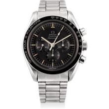 OMEGA - A fine stainless steel chronograph wristwatch with bracelet and pulsations bezel, 1970