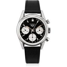 HEUER - A stainless steel chronograph wristwatch with tachymetre scale, Circa 1968