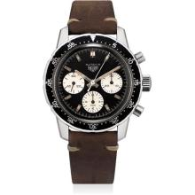 HEUER - A fine and rare stainless steel chronograph wristwatch, Circa 1970
