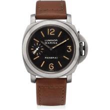 PANERAI - A rare titanium limited edition cushion-shaped wristwatch, 1999