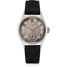 PATEK PHILIPPE - A fine and rare stainless steel wristwatch with two-tone dial, 1944