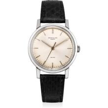 PATEK PHILIPPE - A fine and rare stainless steel wristwatch with sweep centre seconds, retailed by Beyer, 1968