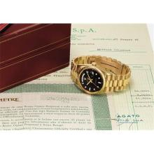 ROLEX - A fine and rare yellow gold calendar wristwatch with sweep centre seconds, bracelet, original guarantee and fitted presentation box, Circa 1969