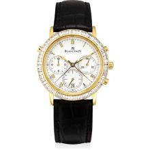 BLANCPAIN - A fine yellow gold and diamond-set limited edition split seconds chronograph wristwatch with date, Circa 1992