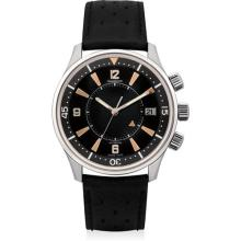 JAEGER LECOULTRE - A fine and rare stainless steel limited edition wristwatch with sweep centre seconds, date and alarm, Circa 2008